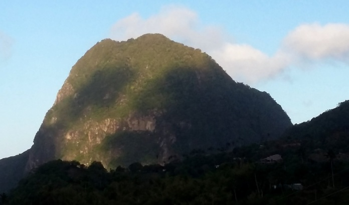 View of Gros Piton from Sulphur Springs